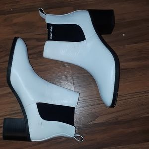 Calvin Klein white booties size 8 and 1/2